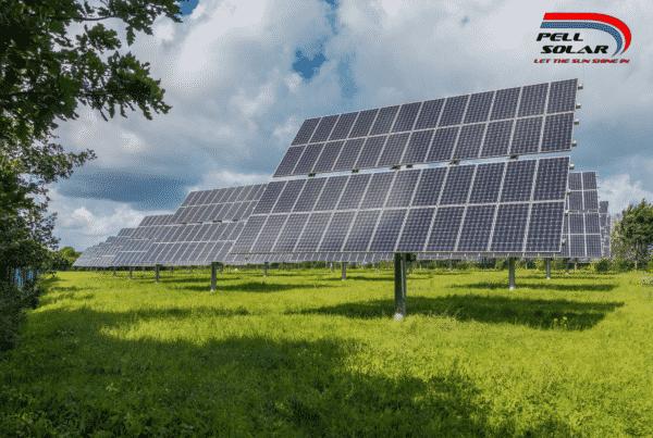 Solar Panels Facing the Sun