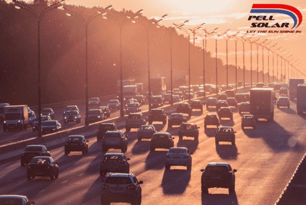 Solar Powered Cars Gathering Sunlight
